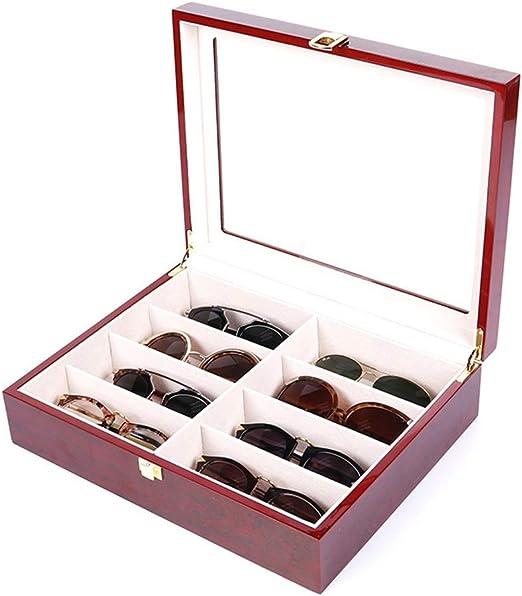 Caja de almacenamiento de gafas de sol Gafas negras grandes de fibra de carbono Gafas Gafas