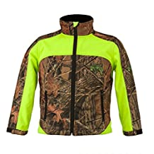 Trail Crest Kid's Camo & Neon Colors Custom Soft Shell Waterproof Jacket