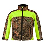 Trail Crest Kid's Camo & Neon Colors Custom Soft Shell Waterproof Jacket, Small, Green & Camo