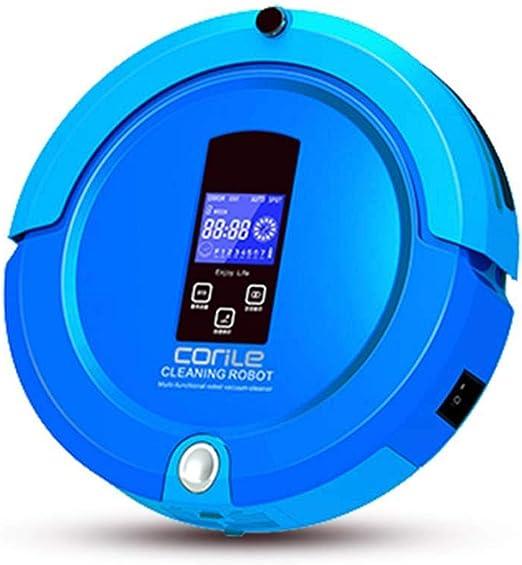 INTELZY Robot Aspirador, Robot Aspirador Silencioso de Carga Automática Seco Mojado de Casa Inteligente Mini Remote Control, para Todo Tipo de Suelos Duros y Alfombras de Pelo Corto,Azul: Amazon.es: Hogar