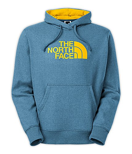 The North Face Half Dome Hoodie Mens Snorkel Blue Heather/Canary Yellow M