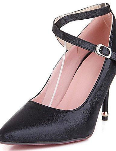 GGX/Damen Schuhe Stiletto Heel Spitz Zulaufender Zehenbereich Ankle Strap Pumpe mehr Farbe erhältlich golden-us11.5 / eu43 / uk9.5 / cn45