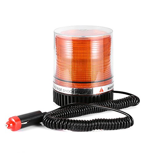 Gledto Amber Emergency Warning Strobe Lights 12V LED Beacon Flashing Vehicle Light with Powerful Magnetic Base for Cars and Trucks-Yellow
