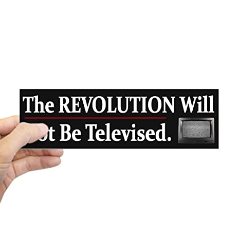 Cafepress funny political revolution bumper sticker 10x3 rectangle bumper sticker