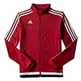 adidas Women's Tiro15 Training Jacket, Power Red/White/Black, XLTG