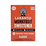 Lakanto Monk Fruit Sweetener,  Classic, 30 Count