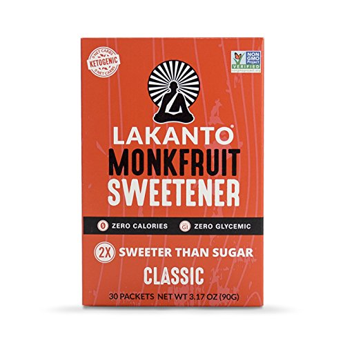 (Lakanto Monk Fruit Sweetener,  Classic, 30 Count)
