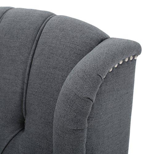 GDF Studio Elizabeth Charcoal Chair