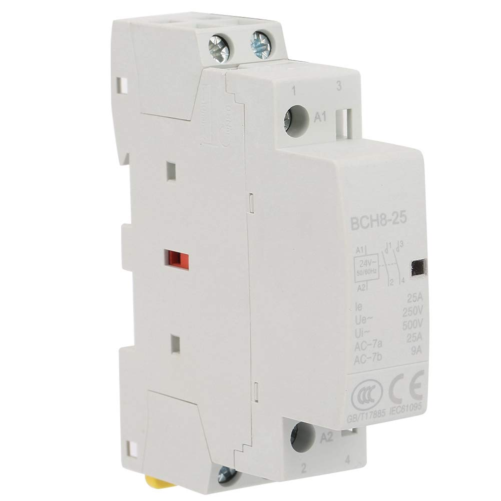 2P 25A Contactor AC 24V, Keenso 24V 25A 2NO 50 / 60HZ Contactor AC Din Rail