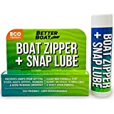 Zipper Lubricant and Zip Wax Marine Grade Lube Stick Apply with Ease Boat, Canvas, Bimini Snap, Coolers, Wetsuit and Drysuit | No Oil Mess