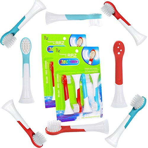 ITECHNIK Kids Replacement Heads for Philips Sonicare HX6034 Head Replacement Compatible With Electric Toothbrush Philips Sonicare Kids Standard, Blue 4 pcs, Red 4 pcs, 8 Count, Fit Age 4+