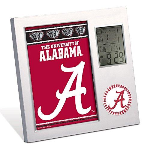 WinCraft NCAA University of Alabama Desk Clock, Black -