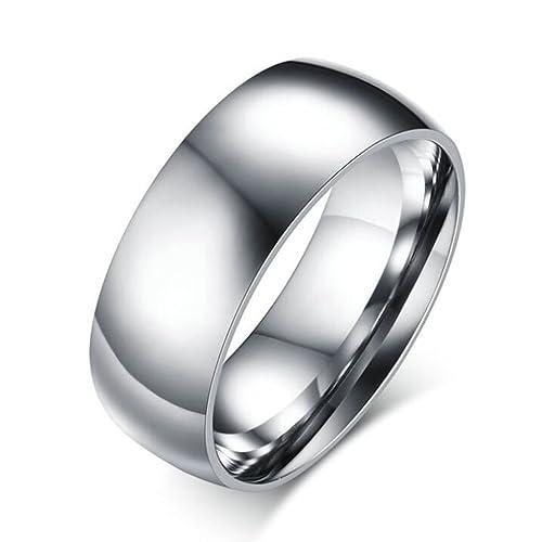 xiangling joyería 316L acero inoxidable pareja anillos de boda grabado para él y para ella
