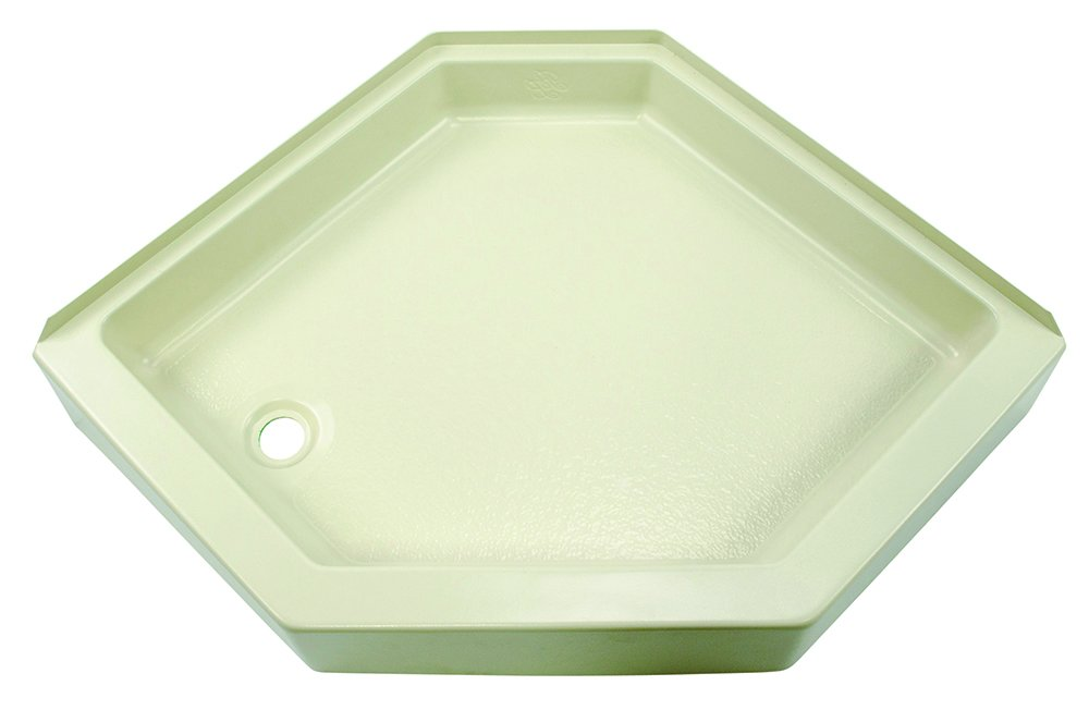 Lippert 209414 Better Bath 32 x 32 Neo Angle RV Shower Pan Left Hand Drain Parchment Lippert Components