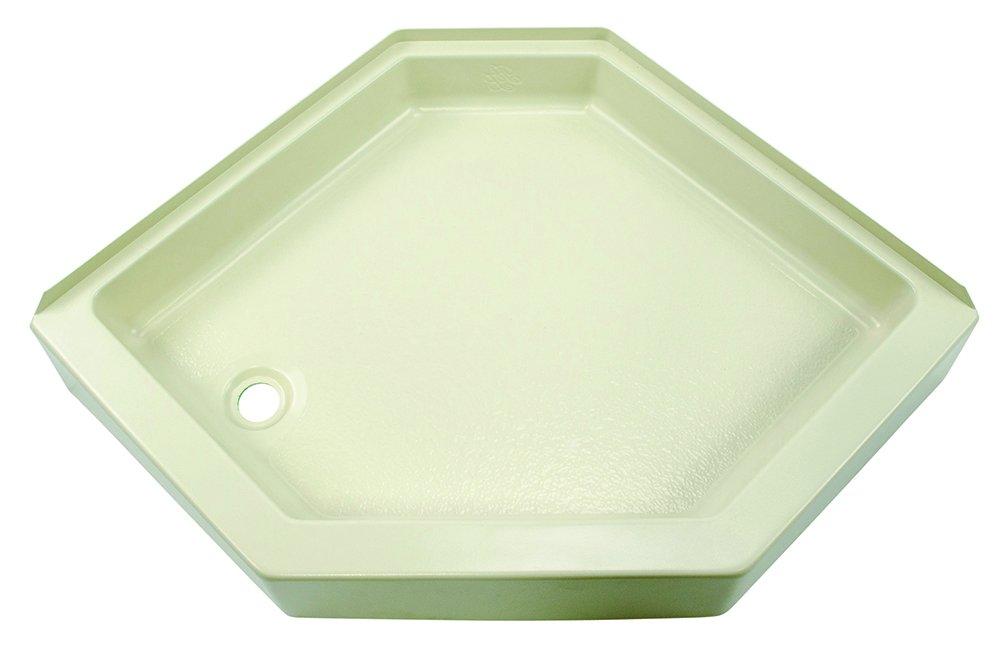 Lippert 209414 Better Bath 32'' x 32'' Neo Angle RV Shower Pan Left Hand Drain Parchment