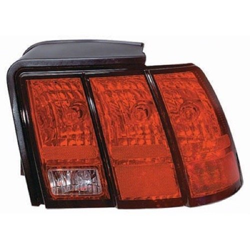 Go-Parts » Compatible 1999-2004 Ford Mustang Rear Tail Light Lamp Assembly Housing/Lens / Cover - Right (Passenger) Side - (Base Model + GT + GT Bullitt) 3R3Z 13404 AA FO2819109 Replacement for Ford