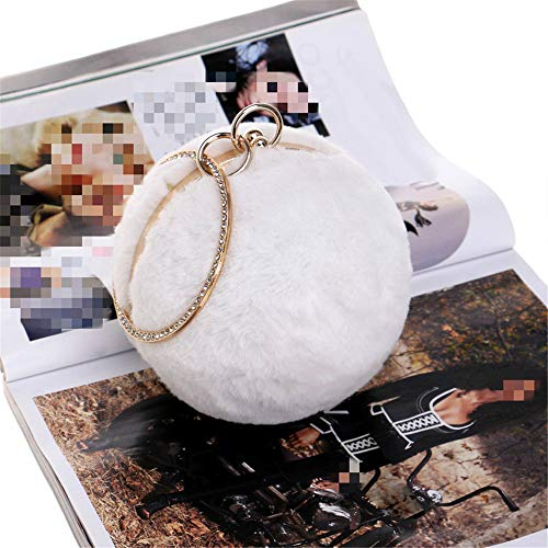 The Bianco Messenger Clutch Bag Plush Feast Tracolla Donna rrqpw10O