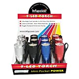 Infapower F006 9-Led Mini Pocket Torch - Pack of 12