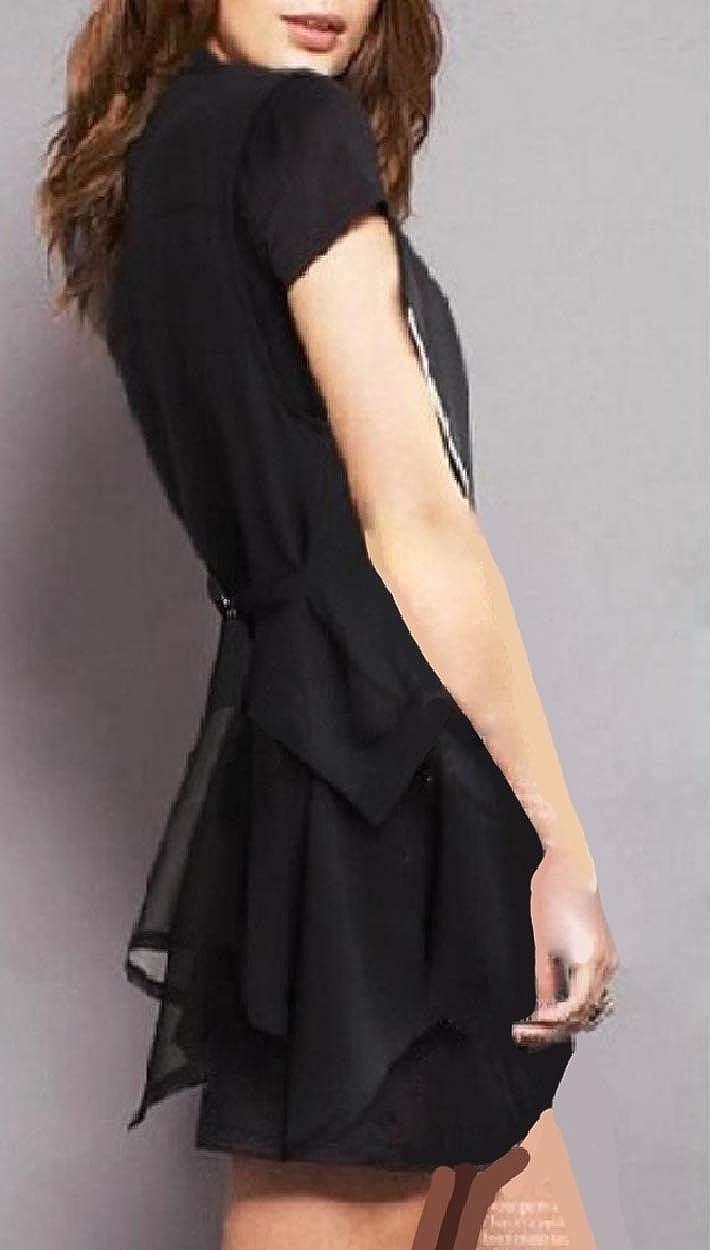 Whitive Womens Blazer Fashionable Waistcoat Lapel Asymmetric Hem Vests