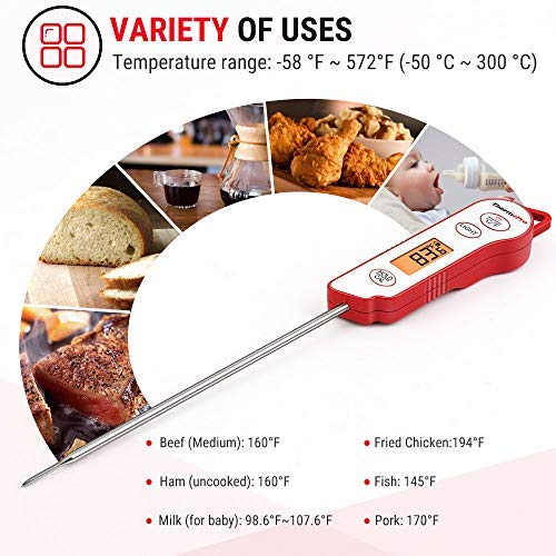... Termómetro de Carne Profesional Mejorado, Sonda de 5.36