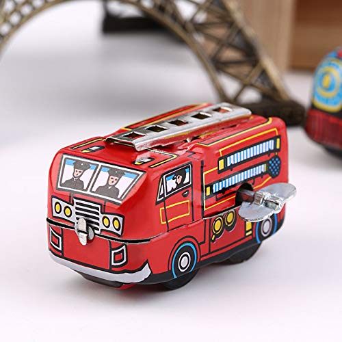 (Diecasts & Toy Vehicles - Hot! Retro Classic Firefighter Fire Engine Truck Clockwork Wind Up Tin Toys GHMY - by Faxe - 1 PCs)