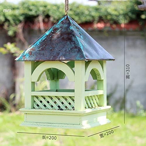 WJQSD Comedero para Pájaros, Estación De Alimentación De Pájaros para Jardín Colgador De Madera Y Pan De Madera balcón, jardín: Amazon.es: Hogar