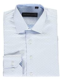 "Kids World Little Boys' ""Tonal Squares"" Dress Shirt"