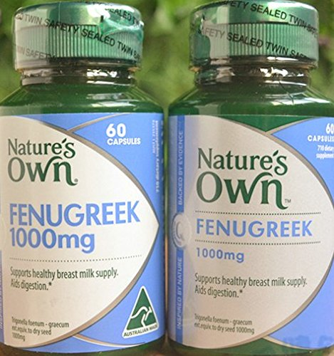 Nature's Own Fenugreek 1000mg 60 Capsules Origin of Australia by Nature's Own
