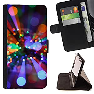 BullDog Case - FOR/Samsung Galaxy S3 Mini I8190Samsung Galaxy S3 Mini I8190 / - / rays light disco ball bright party mood /- Monedero de cuero de la PU Llevar cubierta de la caja con el ID Credit Card Slots Flip funda de cuer