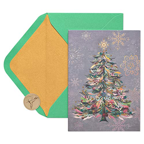 Papyrus Christmas Cards Boxed, Festive Holiday Tree (14-Count) (Card Background Christmas Silver)