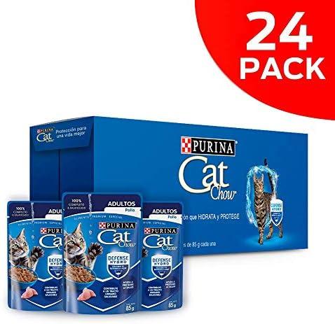 Cat chow defense hydro adulto pescado alimento húmedo pack 24 Pzas de 85g 6