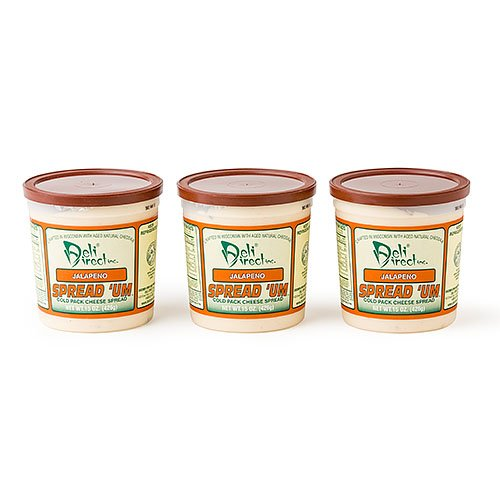 Wisconsin Cheese Spread - Jalapeno (3 Pack of 15oz.each Containers)
