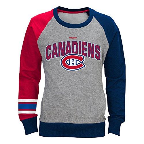 Adidas Crew Neck Sweatshirt (NHL Montreal Canadiens Youth Girl's 7-16