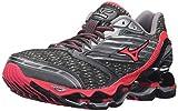 Mizuno Women's Wave Prophecy 5 Running Shoe, Gunmetal/Pink, 7.5 B US
