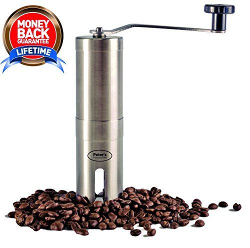 Manual Coffee Grinder, Quality Stainless Steel, Easy Operation, Ergonomic Design, Control Coarseness, Adjustable Ceramic Burr Grinder, Portable and Travel Ready, Fresh Coffee At All Times Review