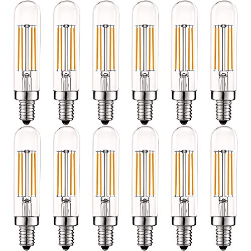 Luxrite Vintage E12 LED Bulb 60W Equivalent, T6 T6 5, 500 Lumens, 2700K  (Warm White), Dimmable Candelabra LED Tube Bulbs 5W, Clear Glass, Edison