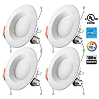 Deals on 4-Pack Otronics 5/6 Inch Dimmable LED Recessed Light Fixture