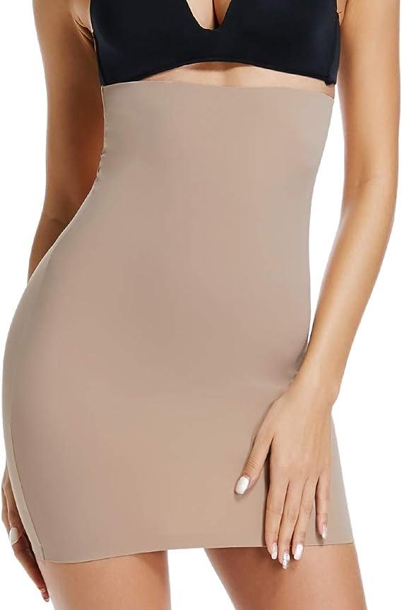 US Women Hi-Waist Smoother Skirt Waist CIncher Slip Half Slips for Under Dresses