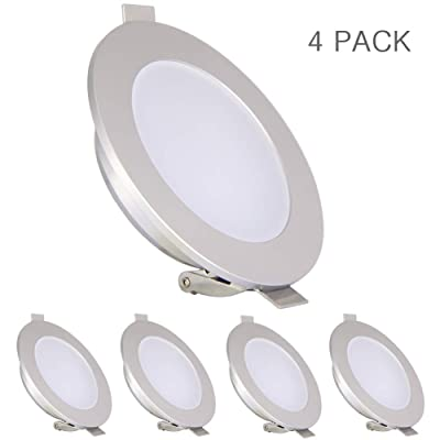 acegoo RV Boat Recessed LED Ceiling Light, Low Profile Overhead Puck Light for Truck Motorhome Cabinets Camper Trailer Sailboat Yachts Interior Lighting, Waterproof IP65 (Warm White 3200K): Automotive