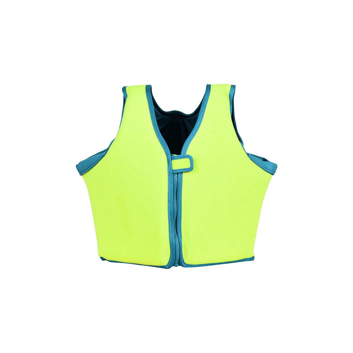 Cyberone EPEパールコットンSwim Vest Driftジャケットフロータfor Infantsベビー子供とYouth 0 – 12年古いポータブル厚ソフト浮力安全 蛍光緑 Large