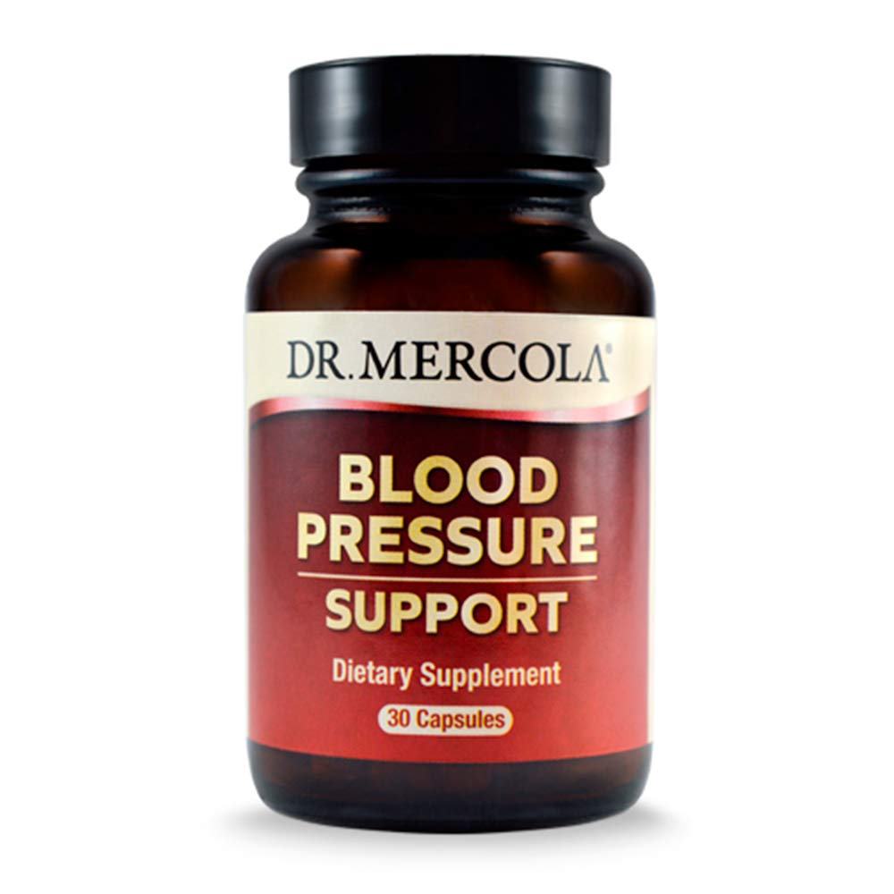 Dr. Mercola Blood Pressure Support Dietary Supplement - 30 Capsules - 300mg Grape Seed Extract - Supports High Blood Pressure Relief - Inflammation Relief - Helps Vascular & High Cholesterol Symptoms