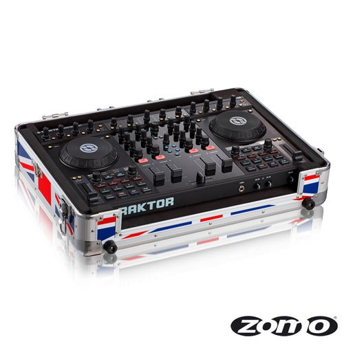 Zomo MFC-S4 (UK Flag) flight case per NI Traktor Kontrol S4 MFC-S4 UK