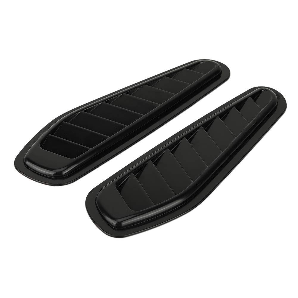 Aramox Cuchara de admisi/ón de flujo de aire cubierta universal para cap/ó de ventilaci/ón 2 piezas de entrada de aire de coche