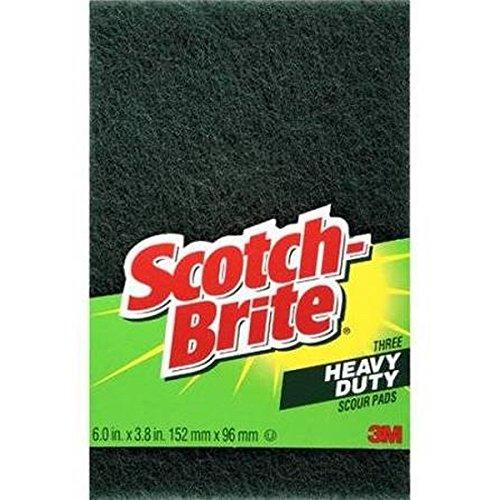Scotch-Brite Heavy Duty Scour Pads 3 Each (Pack of 4)