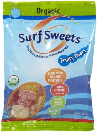 (Surf Sweets Organic Fruity Bears, Bags- 2.75 oz, 12 pk)
