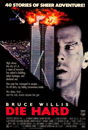 Die Hard - Bruce Willis Credits Movie Poster (Bruce Willis Poster)