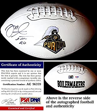 Mike Alstott Signed - Autographed Purdue Boilermakers Football - PSA DNA  Certificate of Authenticity ( 9a4ae31cc