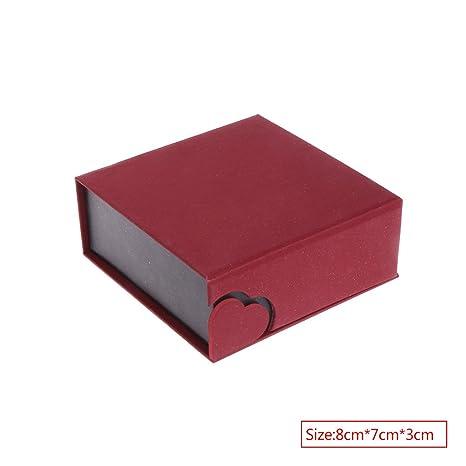 zrshygs Cajas de Regalo para joyería Pulsera Caja de joyería Brazalete Collar Colgante Anillo Regalo Caja