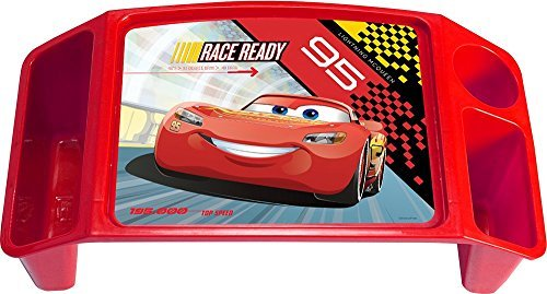 Disney Cars 3 Every Road Has A Story Activity Tray with 2 Storage Wells & 1 Cup/Pencil/Crayon - Tray Toddler Snack