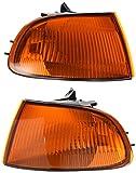 94 honda civic lx - Spec-D Tuning LC-CV923AM-RS Honda Civic Dx Ex Lx 2/3Dr Signal Corner Lights Amber